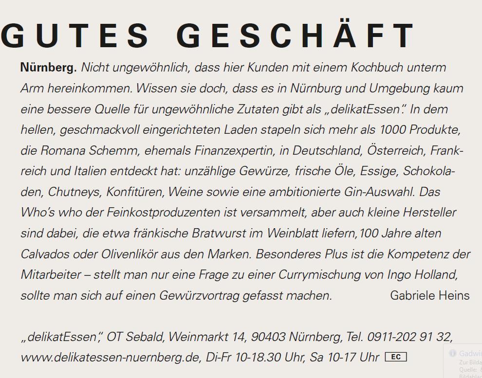 delikatEssen-Nürnberg | Gutes Geschäft