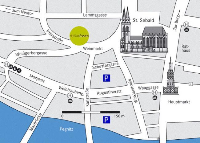 delikatEssen Nürnberg   Parkmöglichkeiten
