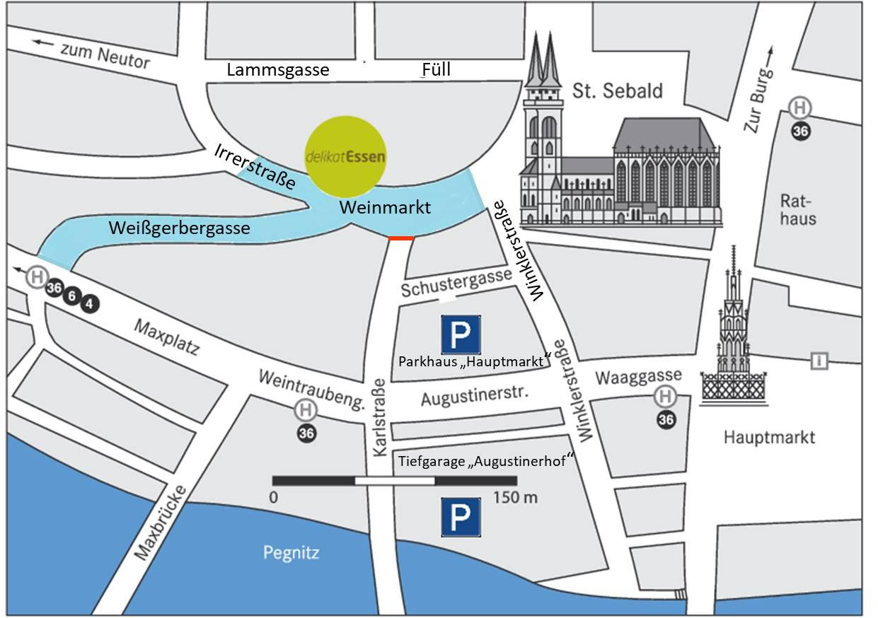 delikatEssen Nürnberg | Parkmöglichkeiten