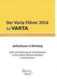 delikatEssen Nürnberg | Ausgezeichnet vom VARTA Führer 2014